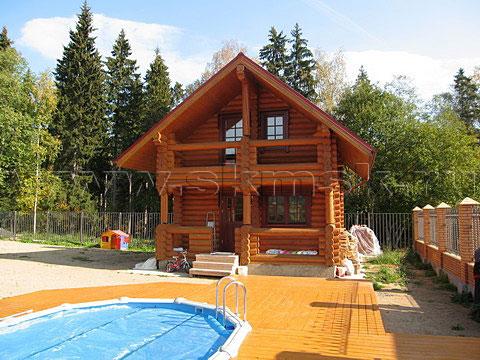 двух этажная баня с басейном из бревна дешево причин